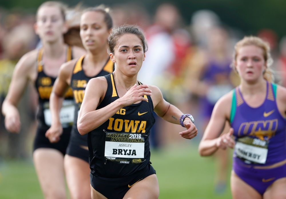 Ashley Bryja during the Hawkeye Invitational Friday, August 31, 2018 at the Ashton Cross Country Course.  (Brian Ray/hawkeyesports.com)