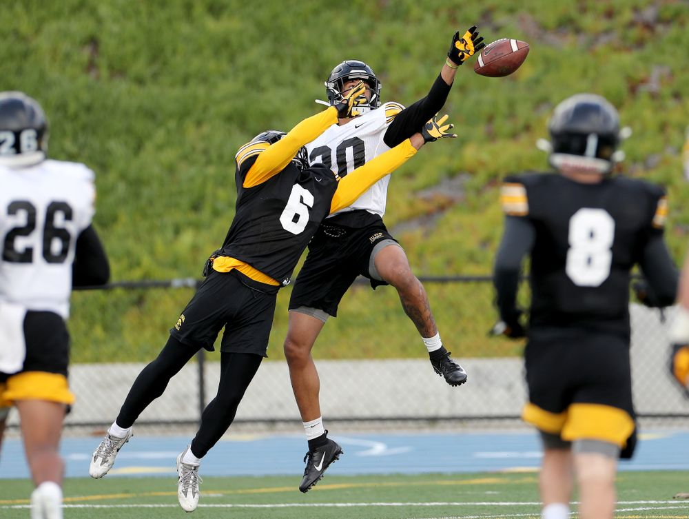 Iowa Hawkeyes defensive back Julius Brents (20) during Holiday Bowl Practice No. 3  Tuesday, December 24, 2019 at San Diego Mesa College. (Brian Ray/hawkeyesports.com)