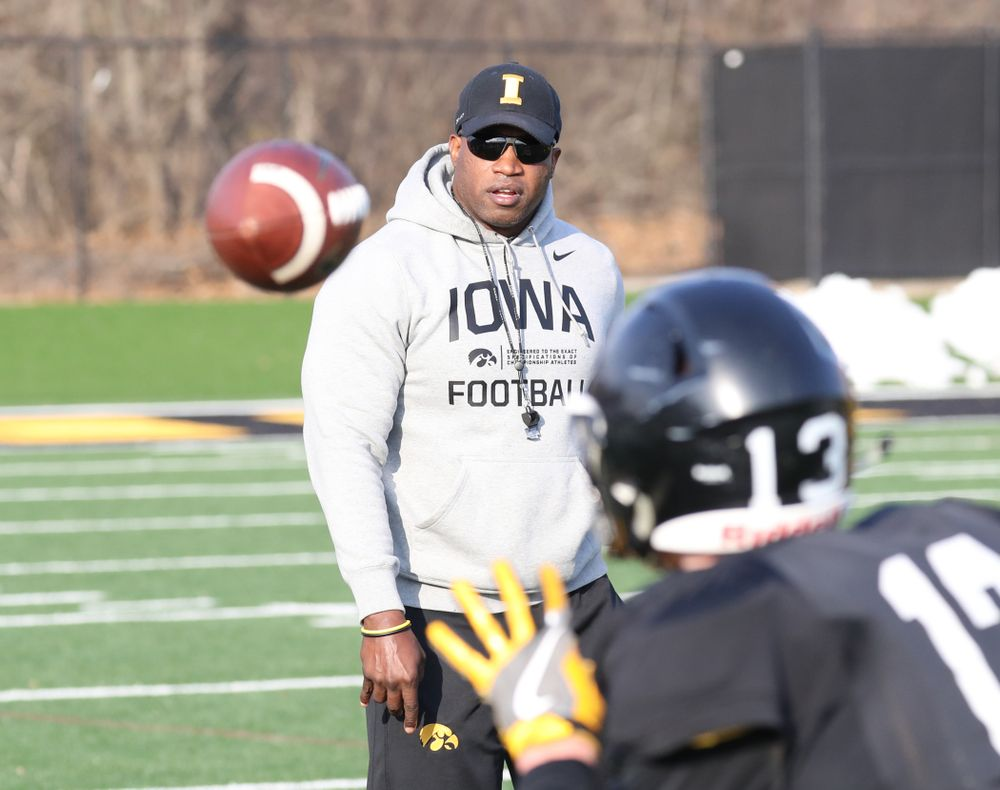 Iowa Wide Receivers Coach, Kelton Copeland
