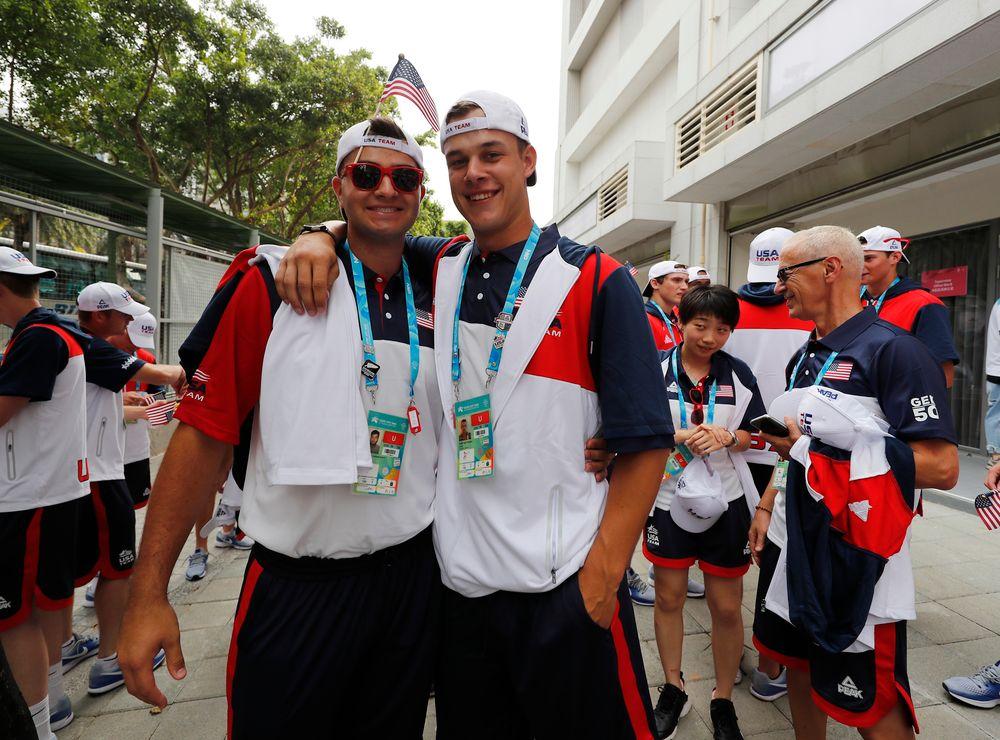 xSammy Lizarraga (29) and Kyle Shimp (45)