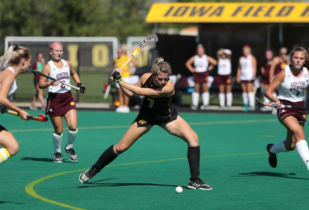 Iowa Hawkeyes Ellie Holley (7) against Central Michigan Friday, September 6, 2019 at Grant Field. The Hawkeyes won the game 11-0. (Brian Ray/hawkeyesports.com)