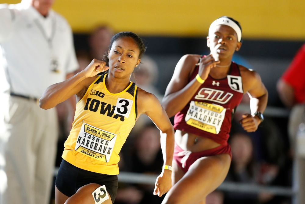 Tashee Hargrave competes in the 400 meters