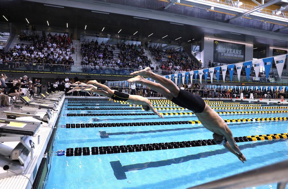 Iowa's Michael Tenney competes in the 400-yard IM on the third day at the 2019 Big Ten Swimming and Diving Championships Thursday, February 28, 2019 at the Campus Wellness and Recreation Center. (Brian Ray/hawkeyesports.com)