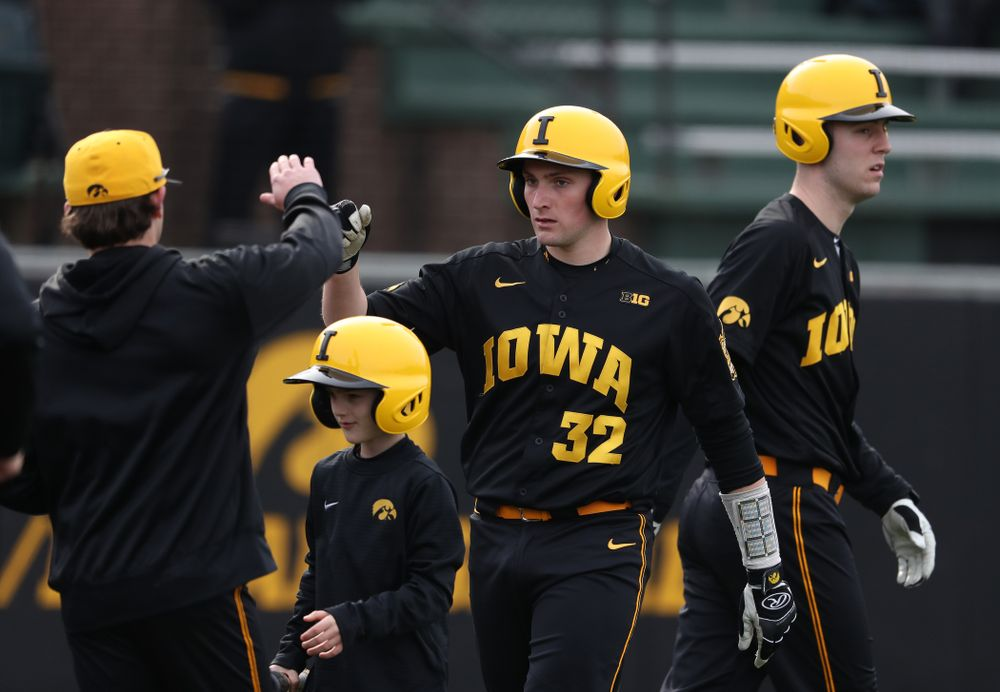 Iowa Hawkeyes catcher Brett McCleary (32) against Simpson College Tuesday, March 19, 2019 at Duane Banks Field. (Brian Ray/hawkeyesports.com)