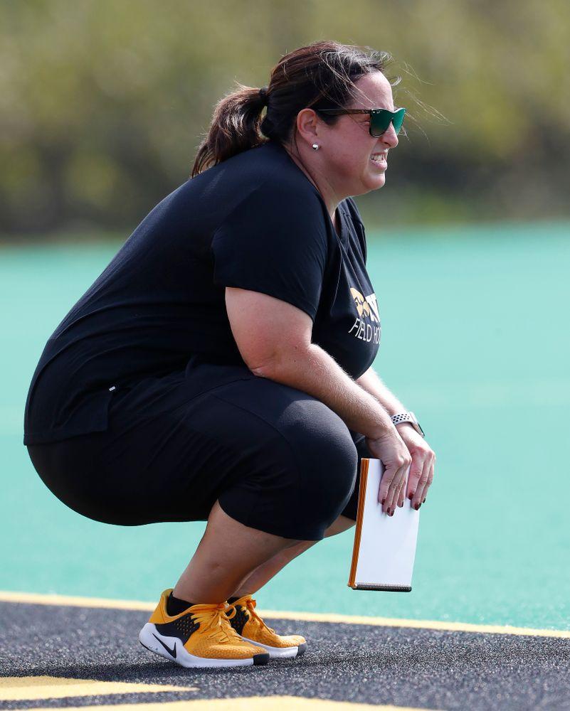 Iowa Hawkeyes head coach Lisa Cellucci against Dartmouth Friday, August 31, 2018 at Grant Field.  (Brian Ray/hawkeyesports.com)