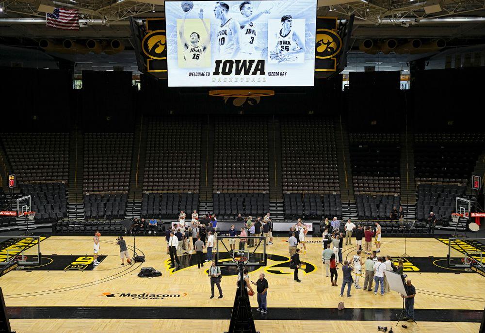 Iowa Men's Basketball Media Day at Carver-Hawkeye Arena in Iowa City on Wednesday, Oct 9, 2019. (Stephen Mally/hawkeyesports.com)