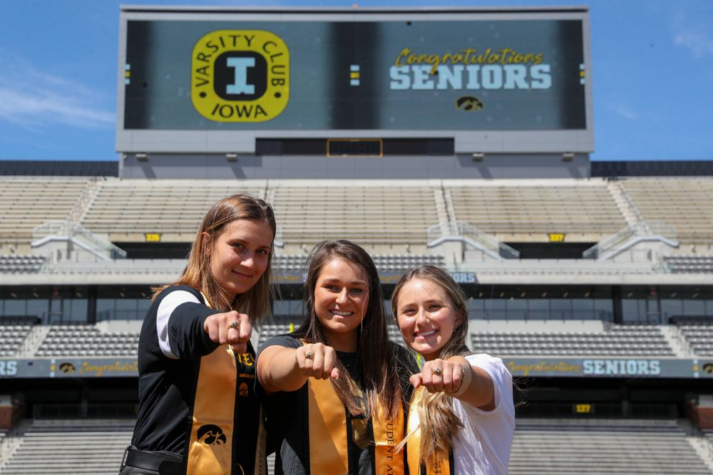 Asleigh Jacobs, Danielle Bauers and Danielle Burich during Ring Event