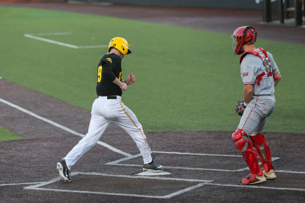Iowa outfielder Ben Norman at the game vs. Bradley on Tuesday, March 26, 2019 at (place). (Lily Smith/hawkeyesports.com)