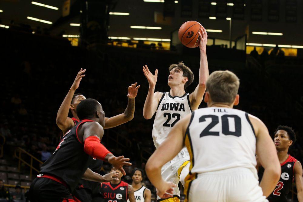 Iowa Hawkeyes forward Patrick McCaffery (22) during Iowa men's basketball vs SIUE on Friday, November 8, 2019 at Carver-Hawkeye Arena. (Lily Smith/hawkeyesports.com)