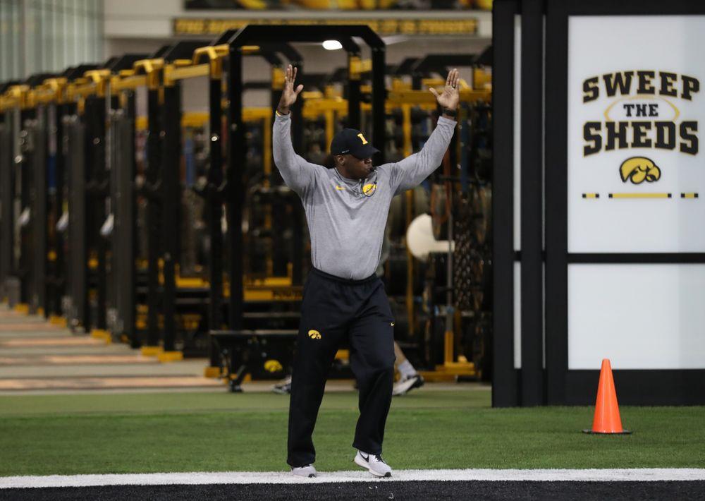 Iowa Wide Receivers Coach Kelton Copeland