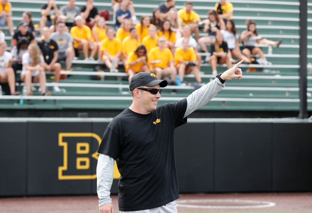 Director of Football New Media Max Allen during the Iowa Student Athlete Kickoff Kickball game  Sunday, August 19, 2018 at Duane Banks Field. (Brian Ray/hawkeyesports.com)