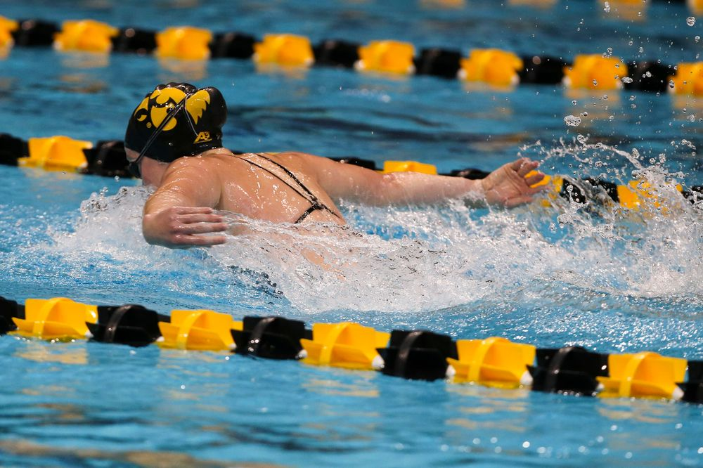 Iowa's Kelsey Drake during Iowa swim and dive vs Minnesota on Saturday, October 26, 2019 at the Campus Wellness and Recreation Center. (Lily Smith/hawkeyesports.com)