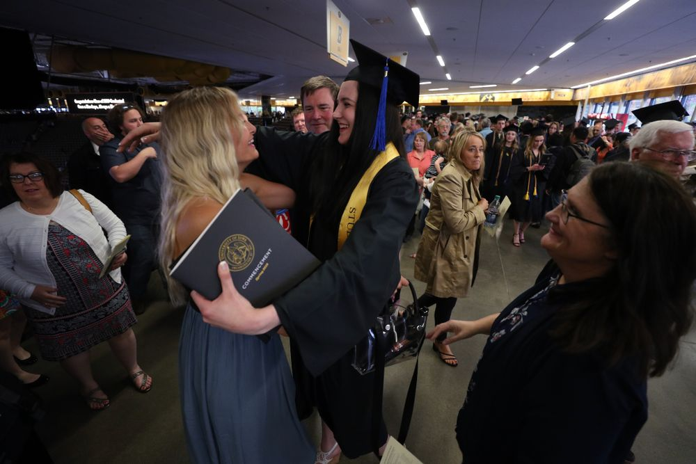 Iowa WomenÕs BasketballÕs Megan Gustafson during the Tippie College of Business spring commencement Saturday, May 11, 2019 at Carver-Hawkeye Arena. (Brian Ray/hawkeyesports.com)