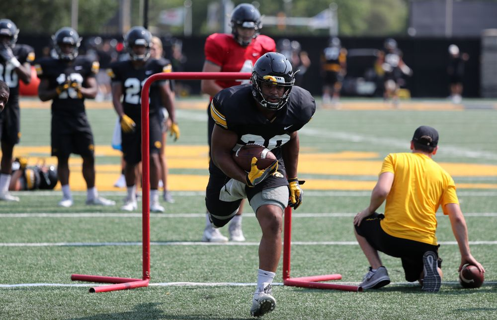Iowa Hawkeyes running back Toren Young (28) during the third practice of fall camp Sunday, August 5, 2018 at the Kenyon Football Practice Facility. (Brian Ray/hawkeyesports.com)