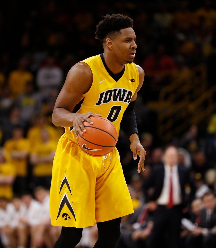 Iowa Hawkeyes forward Ahmad Wagner (0)