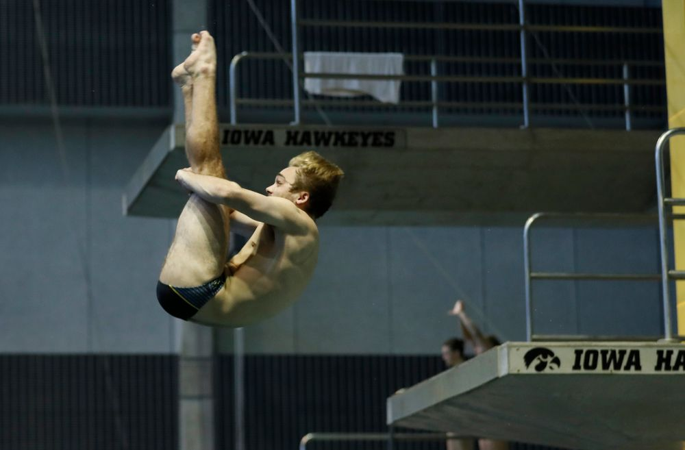 Saturday, January 13, 2018 (Brian Ray/hawkeyesports.com)Iowa's Matt Mauser competes on the one meter springboard