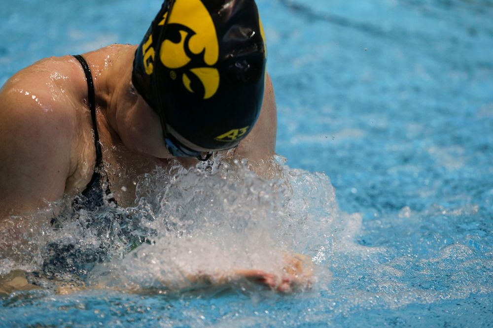 Iowa's Paige Hanley during Iowa swim and dive vs Minnesota on Saturday, October 26, 2019 at the Campus Wellness and Recreation Center. (Lily Smith/hawkeyesports.com)