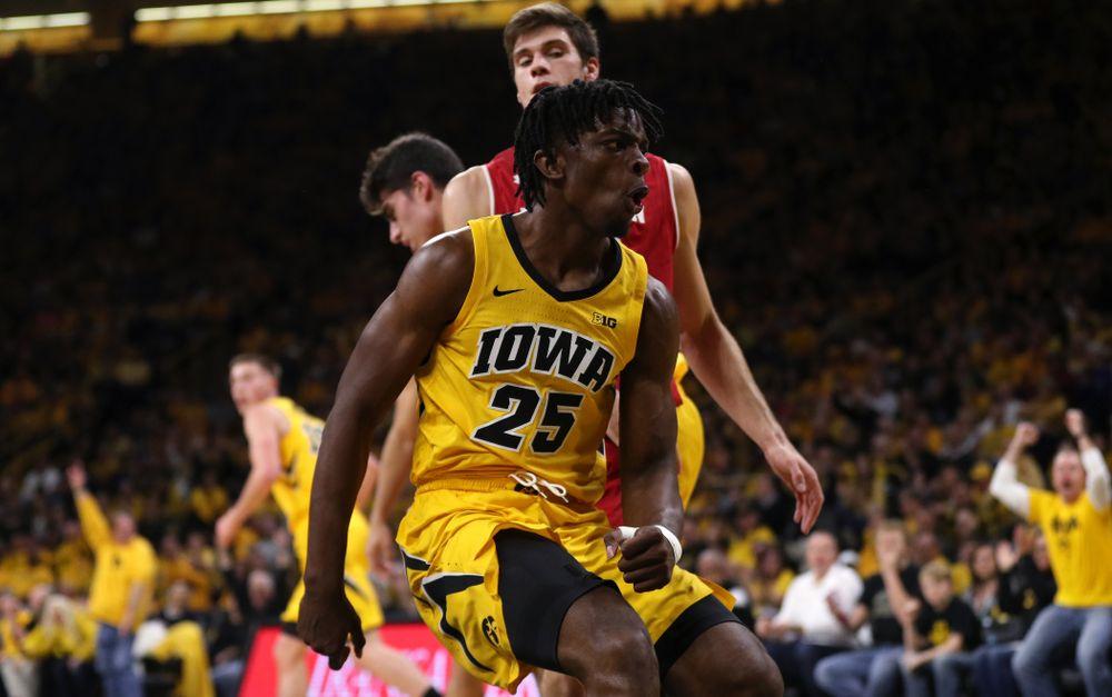 Iowa Hawkeyes forward Tyler Cook (25) against the Wisconsin Badgers Friday, November 30, 2018 at Carver-Hawkeye Arena. (Brian Ray/hawkeyesports.com)