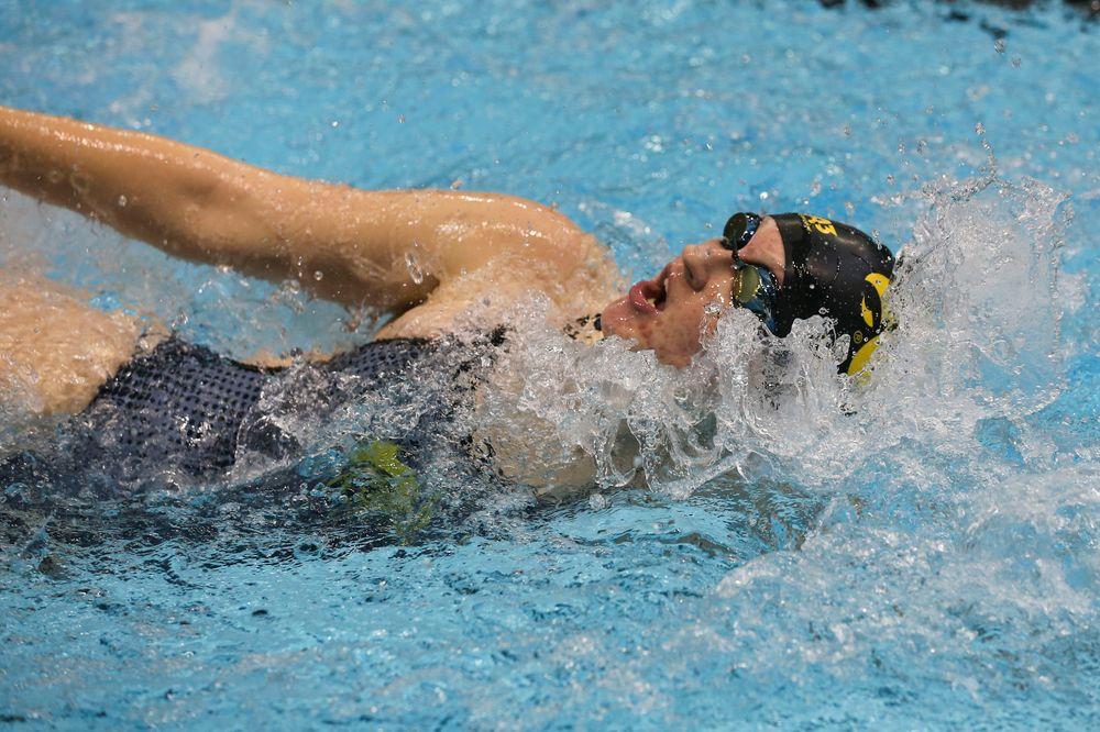 Iowa's Erin Lang during Iowa swim and dive vs Minnesota on Saturday, October 26, 2019 at the Campus Wellness and Recreation Center. (Lily Smith/hawkeyesports.com)