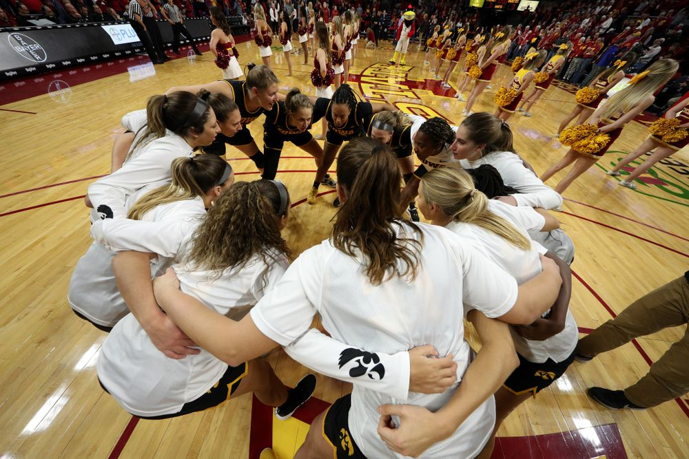 The Iowa Hawkeyes against the Iowa State Cyclones Wednesday, December 11, 2019 at Hilton Coliseum in Ames, Iowa(Brian Ray/hawkeyesports.com)