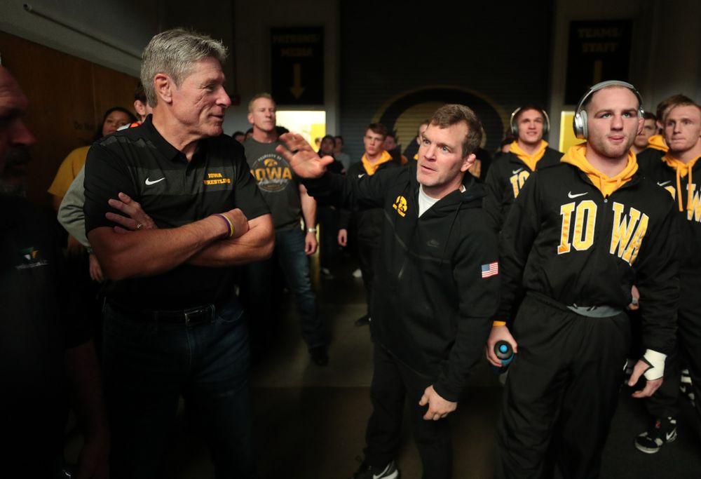 Associate Head Coach Terry Brands against Purdue Saturday, November 24, 2018 at Carver-Hawkeye Arena. (Brian Ray/hawkeyesports.com)