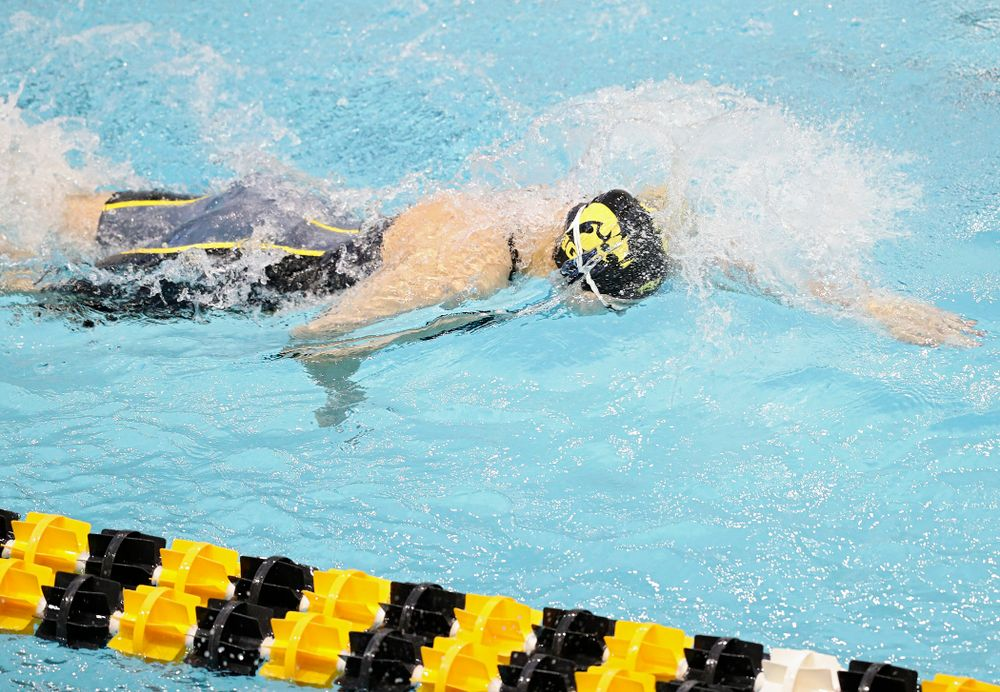 Iowa's Madilyn Ziegert swims the women's 50 yard freestyle preliminary event during the 2020 Women's Big Ten Swimming and Diving Championships at the Campus Recreation and Wellness Center in Iowa City on Thursday, February 20, 2020. (Stephen Mally/hawkeyesports.com)