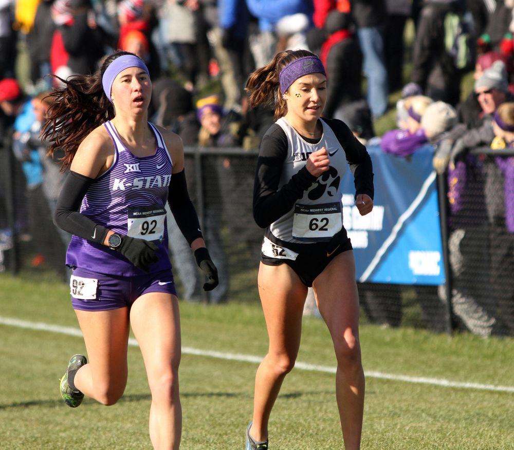 Marta Gonzalez races to the finish line at the NCAA Regional.