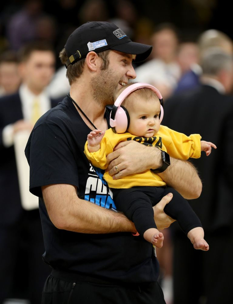 Assistant Coach Michael Boal and the Iowa Field Hockey team are recognized during the Iowa Hawkeyes game against the Ohio State Buckeyes Thursday, February 20, 2020 at Carver-Hawkeye Arena. (Brian Ray/hawkeyesports.com)