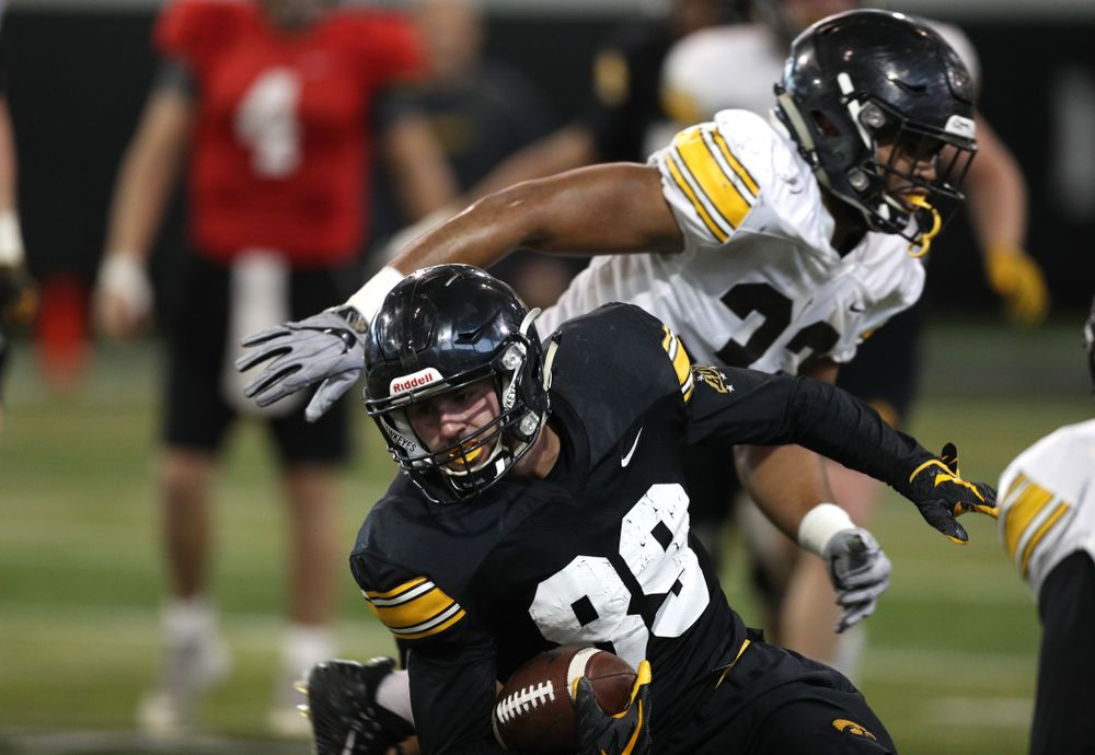 Iowa Hawkeyes wide receiver Nico Ragaini (89) during practice Wednesday, December 12, 2018 at the Hansen Football Performance Center in preparation for the Outback Bowl game against Mississippi State. (Brian Ray/hawkeyesports.com)