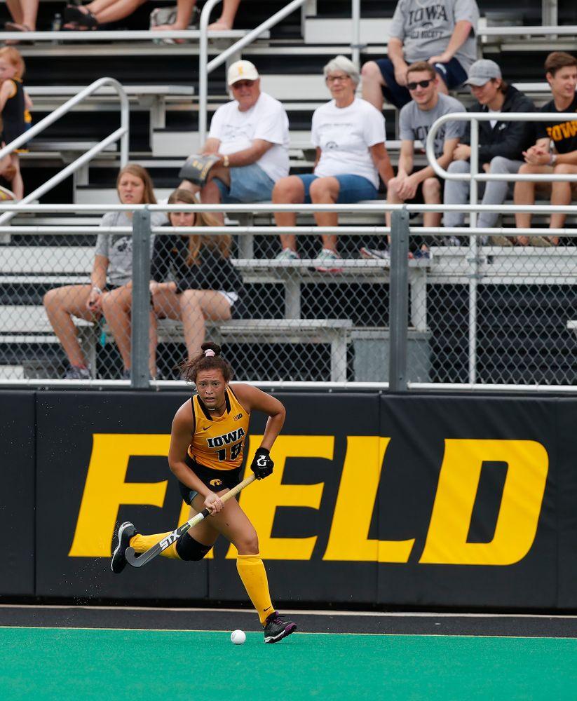 Iowa Hawkeyes Mya Christopher (18) against Ball State Sunday, September 2, 2018 at Grant Field. (Brian Ray/hawkeyesports.com)