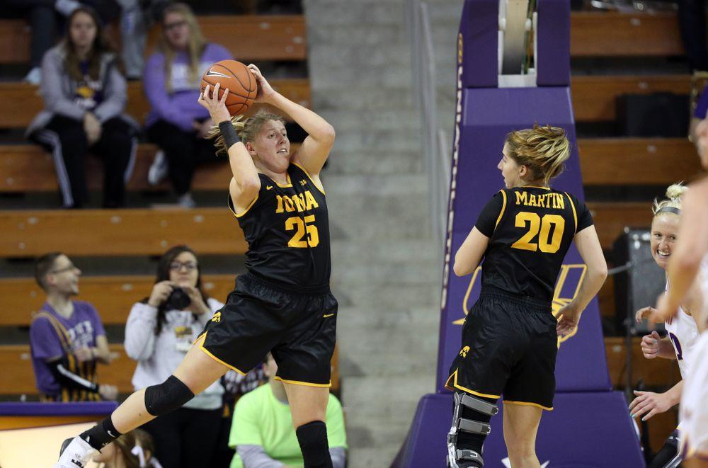 Iowa Hawkeyes forward/center Monika Czinano (25) against Northern Iowa Sunday, November 17, 2019 at the McLeod Center. (Brian Ray/hawkeyesports.com)