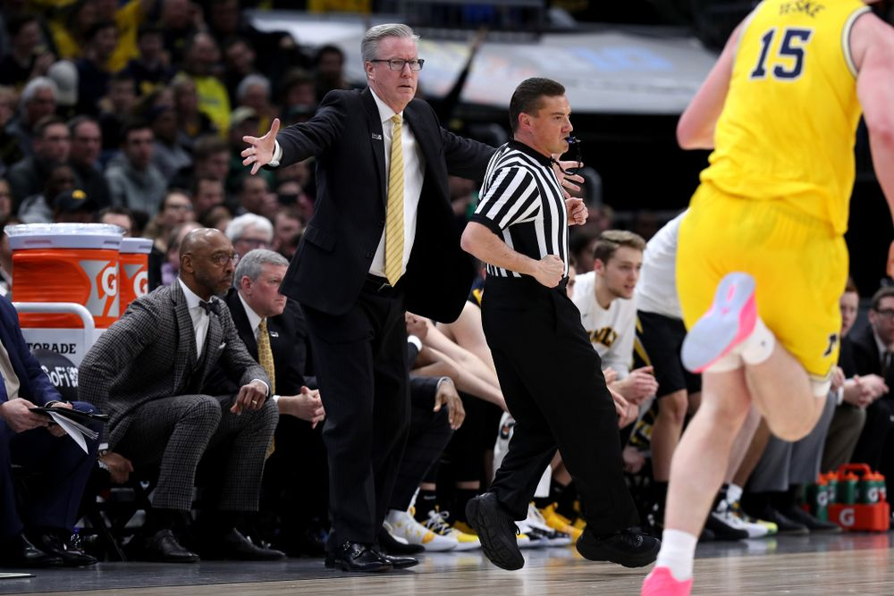 Iowa Hawkeyes head coach Fran McCaffery against the Michigan Wolverines in the 2019 Big Ten Men's Basketball Tournament Friday, March 15, 2019 at the United Center in Chicago. (Brian Ray/hawkeyesports.com)