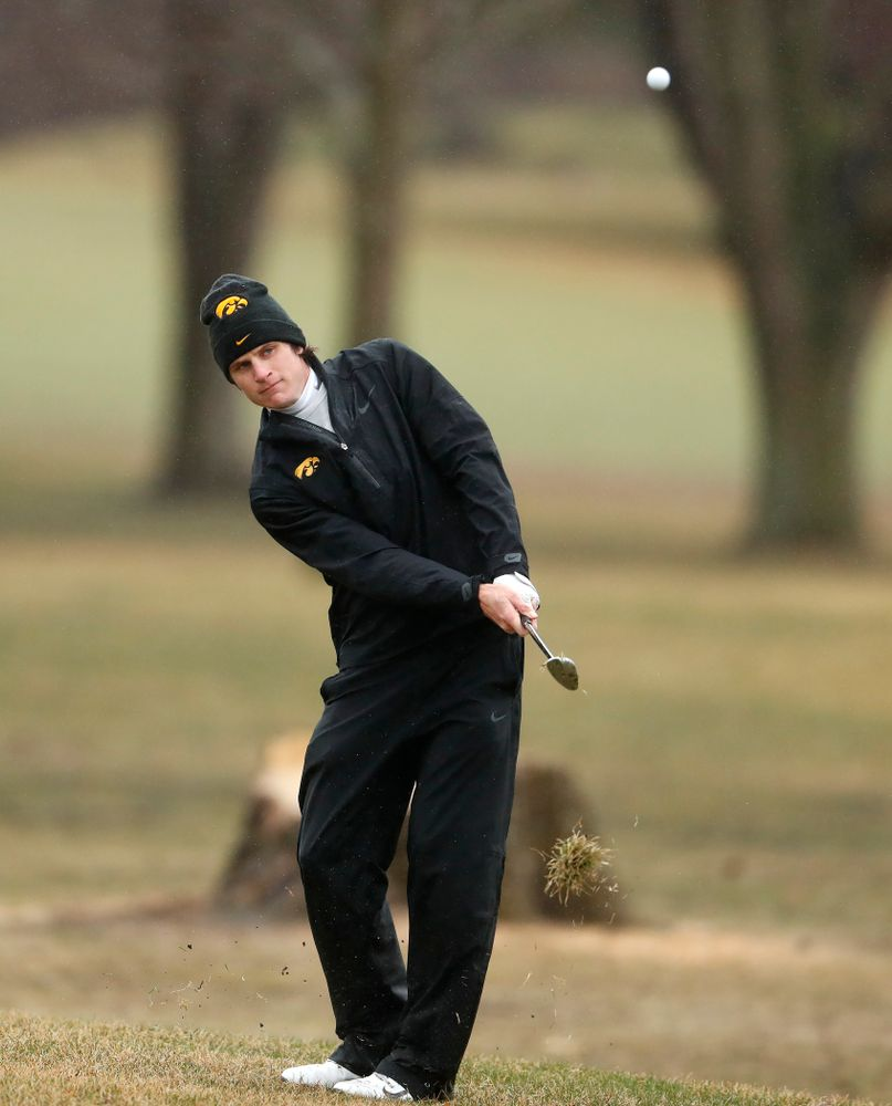 Iowa's Sam Meuret during day two of the 2018 Hawkeye Invitational Friday, April 13, 2018 at Finkbine Golf Course. (Brian Ray/hawkeyesports.com)