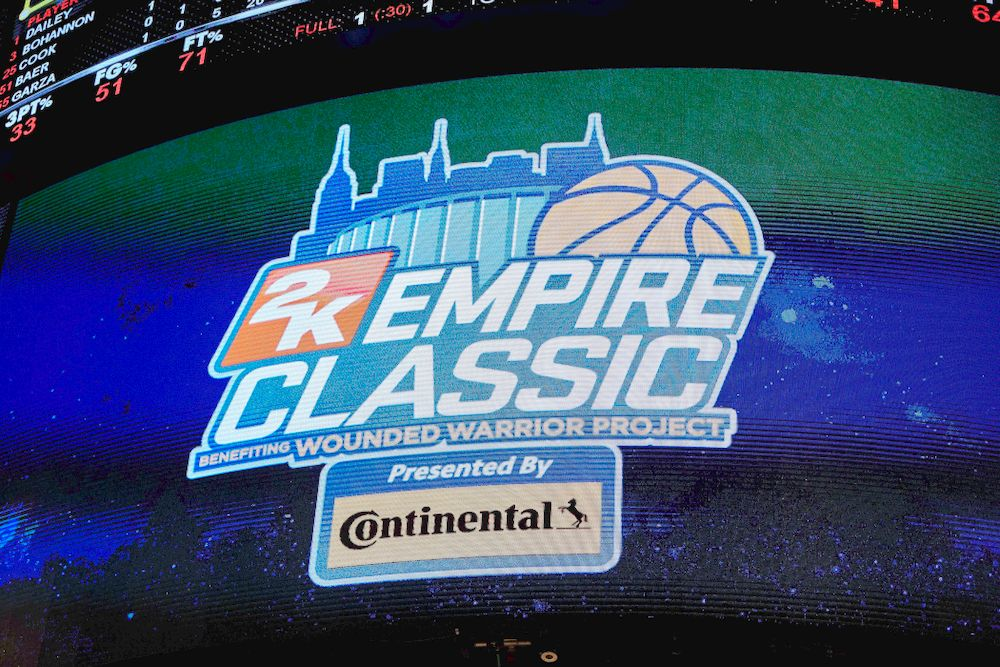 The Iowa Hawkeyes against UConn in the Championship game of the 2K Empire Classic Friday, November 16, 2018 at Madison Square Garden in New York City. (Duncan H.Williams/Freelance)