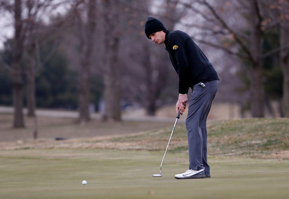 Sam Meuret during the 2018 Hawkeye Invitational  Friday, April 13, 2018 at Finkbine Golf Course. (Brian Ray/hawkeyesports.com)