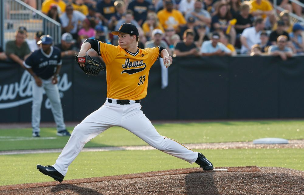 Iowa Hawkeyes pitcher Jack Dreyer (33)