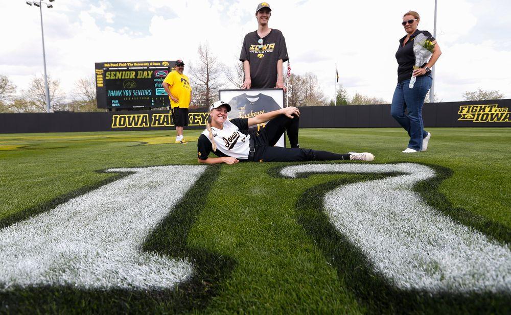 Iowa Hawkeyes outfielder Allie Wood (17)