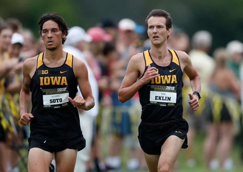 Daniel Soto and Ian Eklin during the Hawkeye Invitational Friday, August 31, 2018 at the Ashton Cross Country Course.  (Brian Ray/hawkeyesports.com)