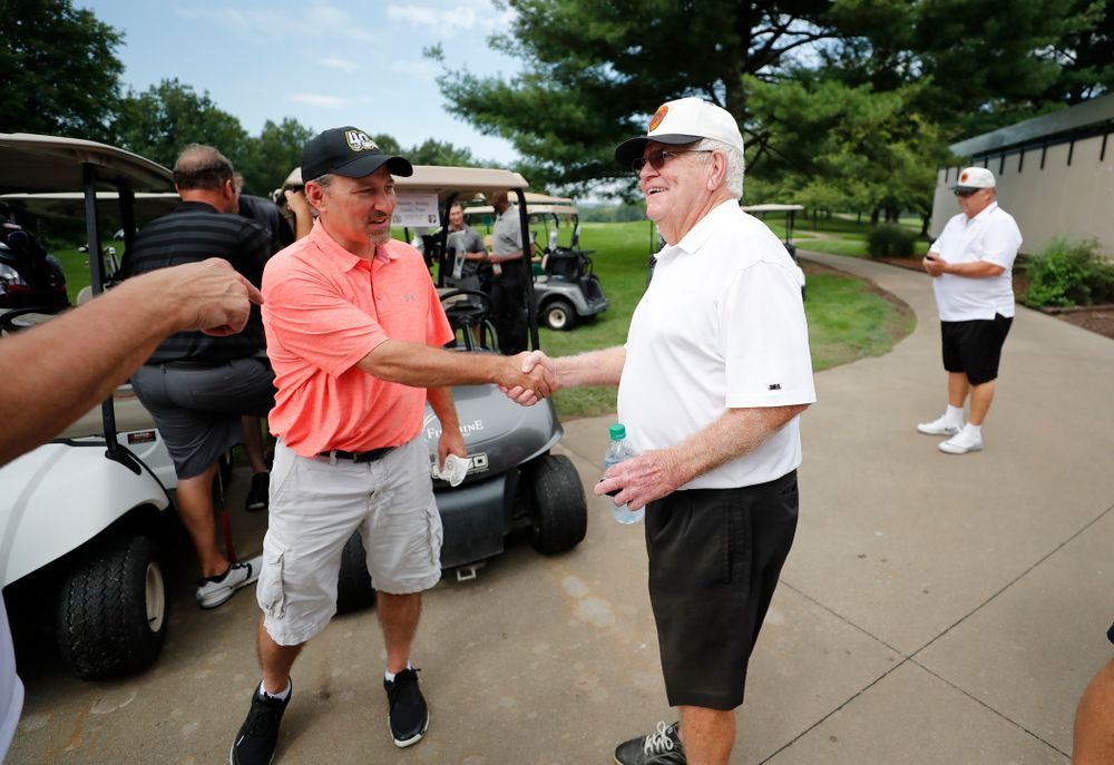 Dr. Tom Davis during the  2018 Chris Street Memorial Golf Outing Monday, August 27, 2018 at Finkbine Golf Course. (Brian Ray/hawkeyesports.com)