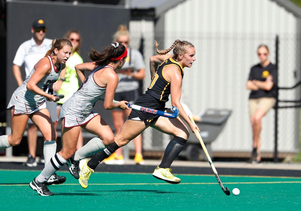 Iowa Hawkeyes Katie Birch (11) against the Penn Quakers Friday, September 14, 2018 at Grant Field. (Brian Ray/hawkeyesports.com)
