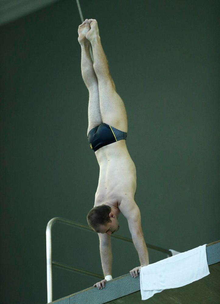 Anton Hoherz competes on the 10 meter platform