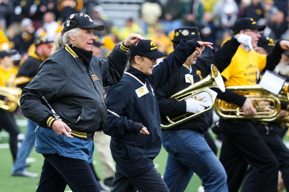 The Hawkeye Alumni Marching Band during Iowa football vs Purdue on Saturday, October 19, 2019 at Kinnick Stadium. (Lily Smith/hawkeyesports.com)