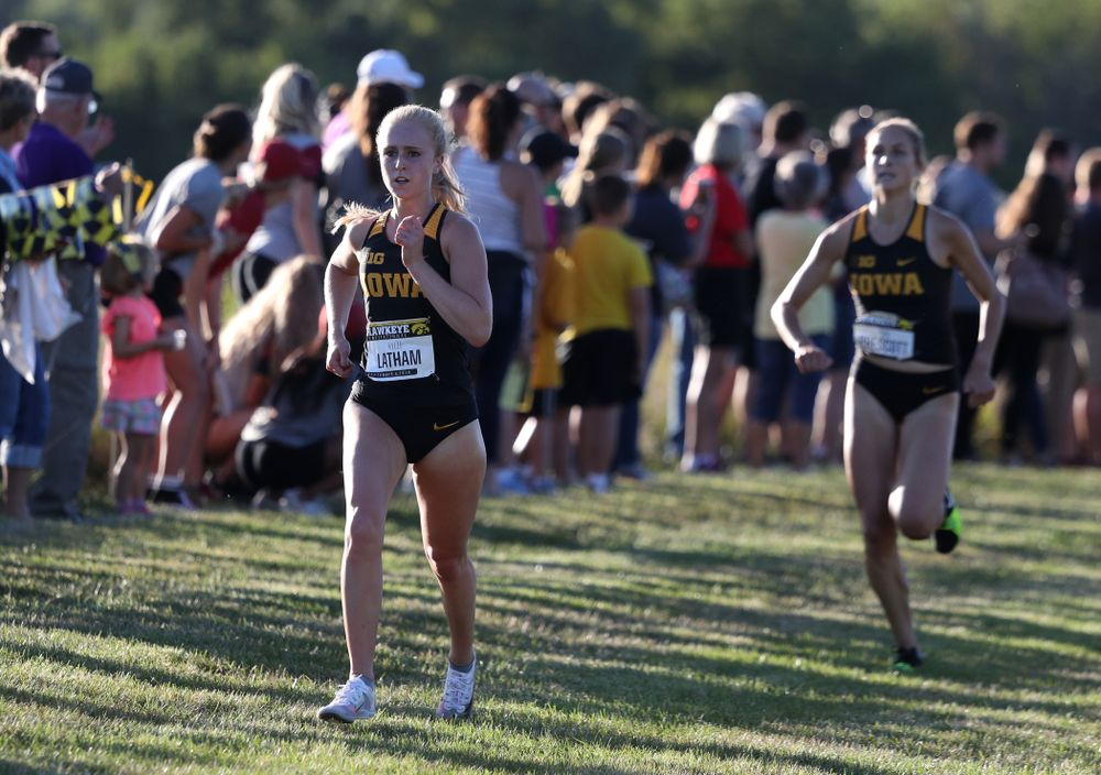 IowaÕs Kylie Latham runs in the 2019 Hawkeye Invitational Friday, September 6, 2019 at the Ashton Cross Country Course. (Brian Ray/hawkeyesports.com)