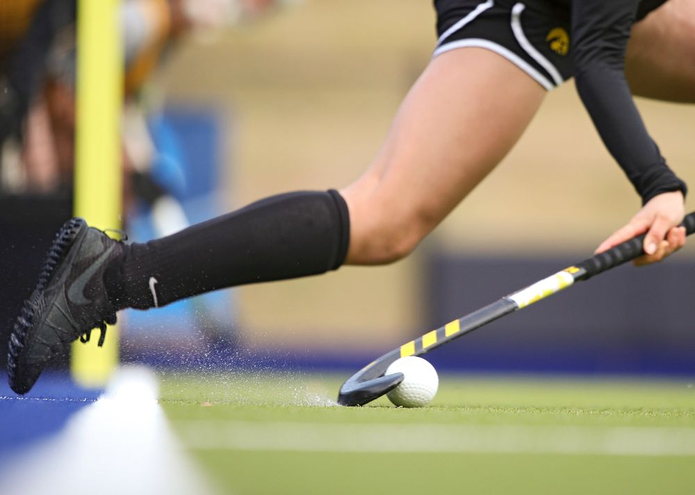 Iowa's Maddy Murphy (26) practices a penalty corner during their practice at Karen Shelton Stadium in Chapel Hill, N.C. on Saturday, Nov 16, 2019. (Stephen Mally/hawkeyesports.com)