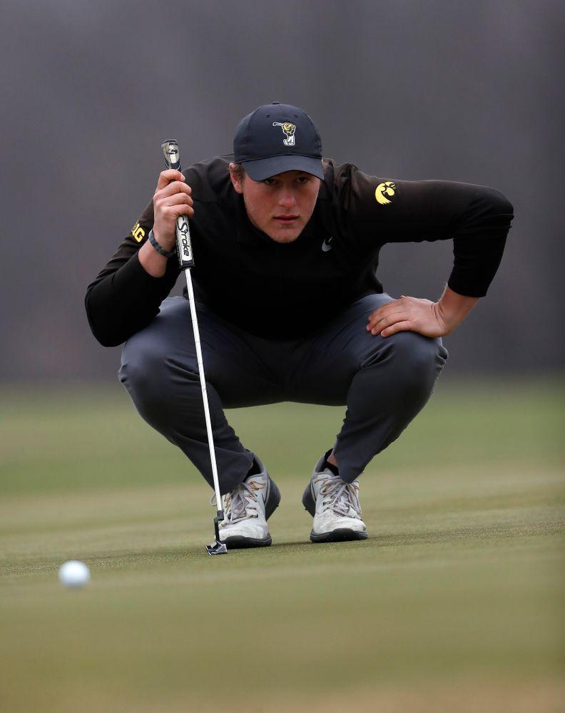 Alex Schaake during the 2018 Hawkeye Invitational  Friday, April 13, 2018 at Finkbine Golf Course. (Brian Ray/hawkeyesports.com)