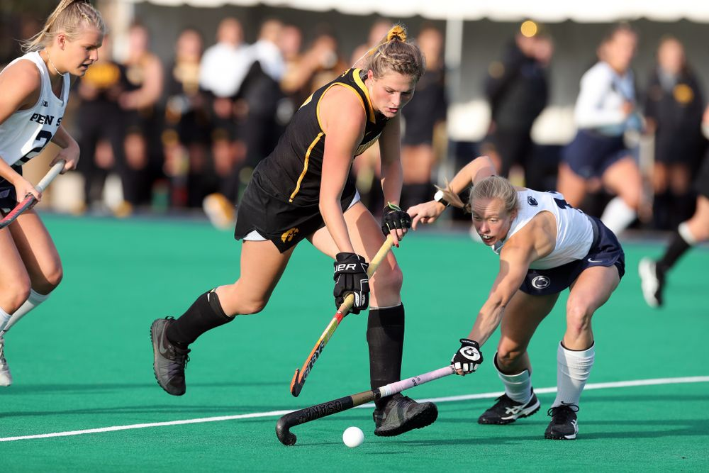 Iowa Hawkeyes Ellie Holley (7) against Penn State in the 2019 Big Ten Field Hockey Tournament Championship Game Sunday, November 10, 2019 in State College. (Brian Ray/hawkeyesports.com)