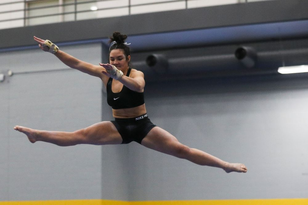 Carina Tolan performs on the beam during the Iowa women's gymnastics Black and Gold Intraquad Meet on Saturday, December 7, 2019 at the UI Field House. (Lily Smith/hawkeyesports.com)