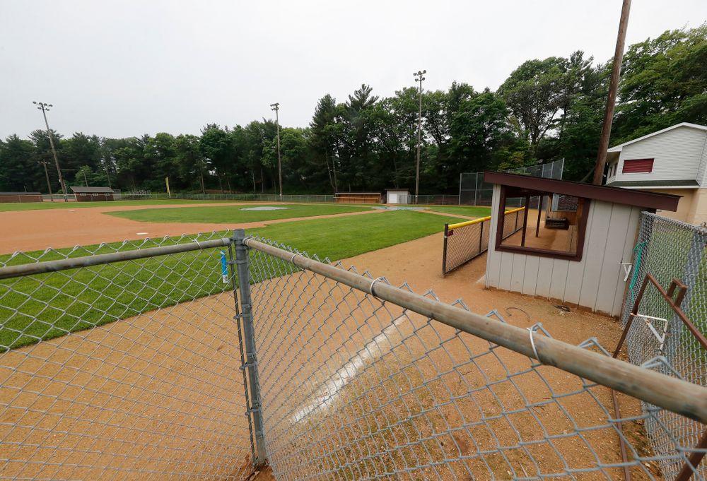 The field where Iowa Hawkeyes quarterback Nathan Stanley (4) played high school baseball Wednesday, May 30, 2018 in Menomonie, Wisc. (Brian Ray/hawkeyesports.com)