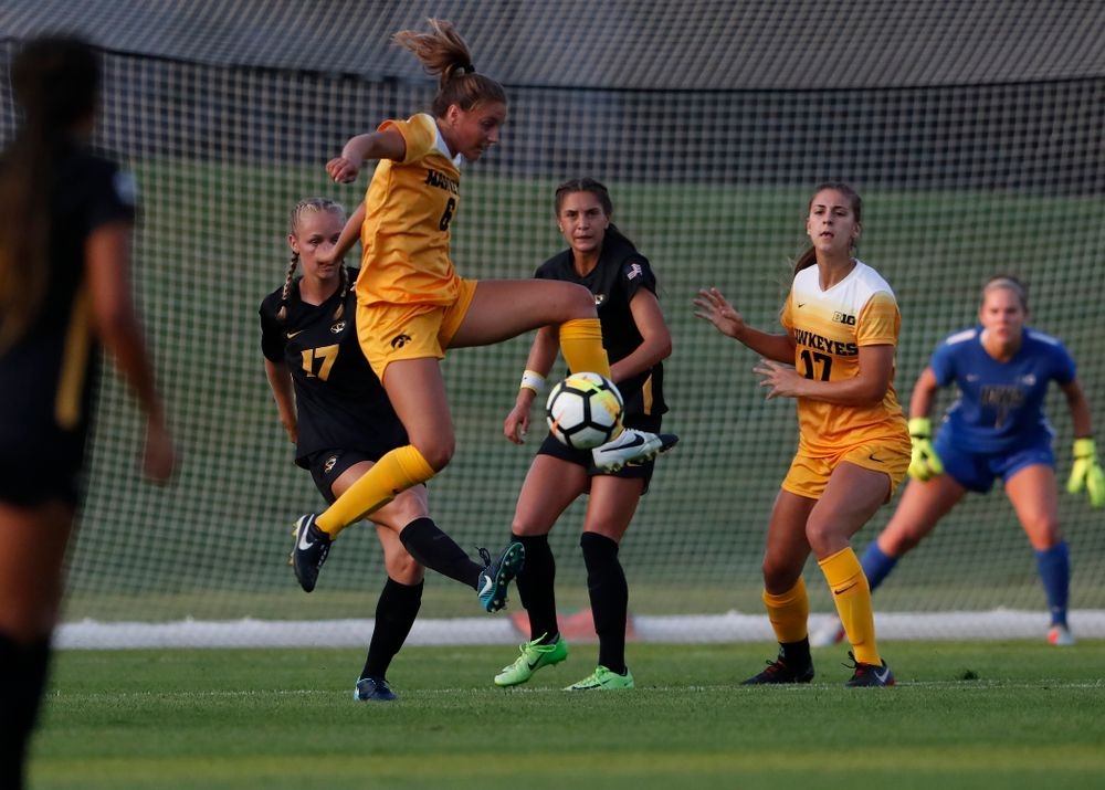 Iowa Hawkeyes Isabella Blackman (6) against the Missouri Tigers Friday, August 17, 2018 at the Iowa Soccer Complex. (Brian Ray/hawkeyesports.com)