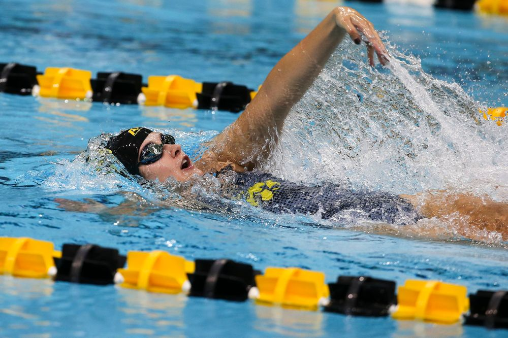 Iowa's Helen Blumenau during Iowa swim and dive vs Minnesota on Saturday, October 26, 2019 at the Campus Wellness and Recreation Center. (Lily Smith/hawkeyesports.com)